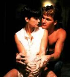 Patrick Swayze and Demi Moore in Ghost