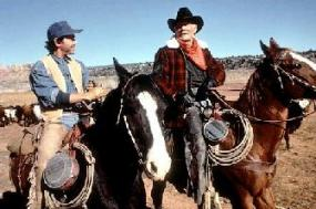 Billy Crystal and Jack Palance in City Slickers