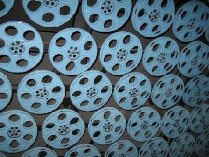 Wall of Film Reels