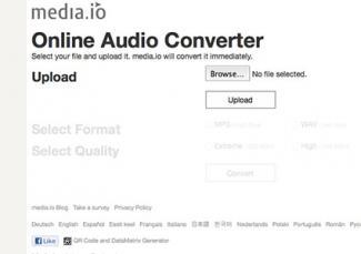 Screenshot of media.io landing page