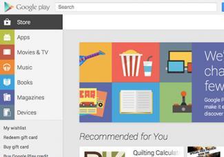 Screenshot of Google Play Store