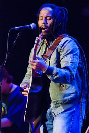 Reggae artist Ziggy Marley