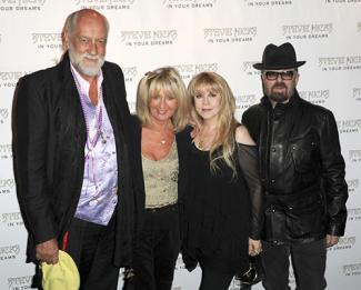 Mick Fleetwood, Christine McVie, Stevie Nicks and Dave Stewart