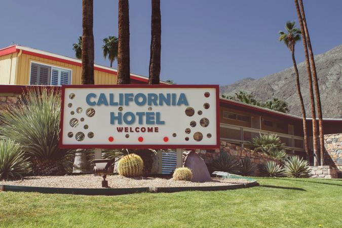 California desert hotel