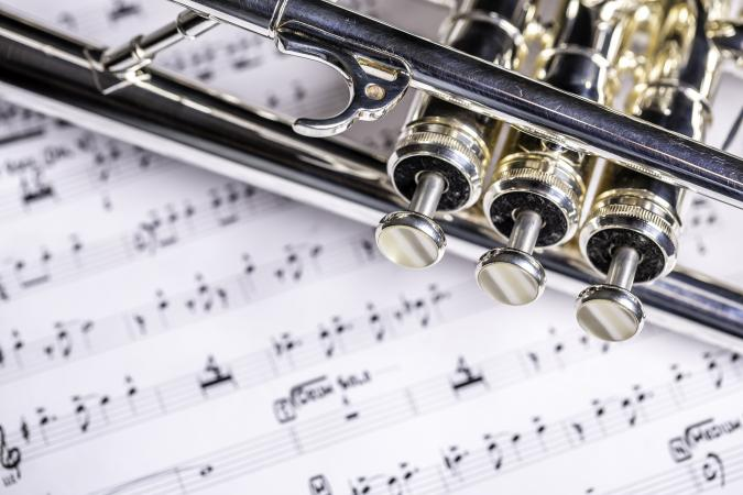 Trumpet and sheet music