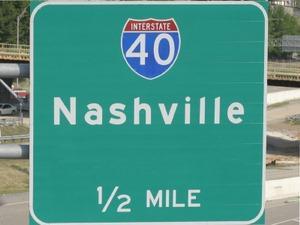 Nashville road sign