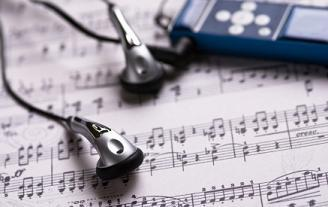 MP3 and sheet music