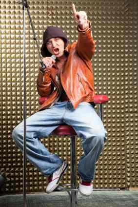 Rapping is often parodied