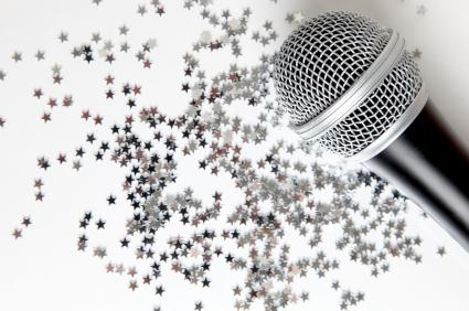 microphone and stars