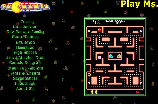 Ms. Pac Man Intro Screen