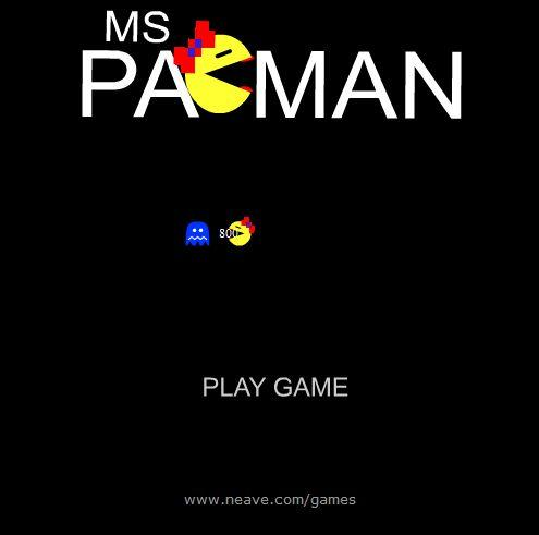 Pacman Game Online Playing ms. pac man online