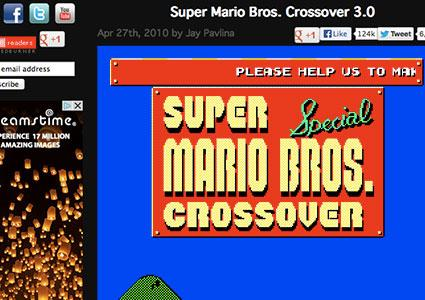 Super Mario Bros. Crossover online game at Explodingrabbit.com