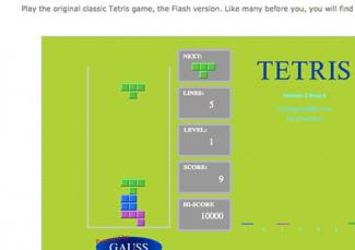 Screenshot of Tetris Game