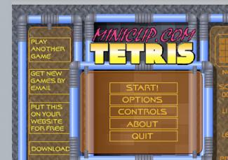 Screenshot of Tetris Game Series