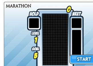Screenshot of Tetris Marathon Game at TetrisFriends.com