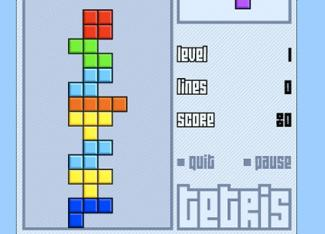 Screenshot of Tetris Game at TetrisLive.com