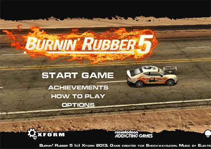 Screenshot of Burnin' Rubber Version 5