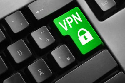 Keyboard green vpn lock symbol button