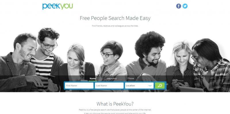 Screenshot of PeekYou