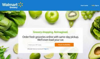 Screenshot of Walmart Grocery website