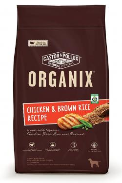 Castor & Pollux Organix Chicken and Brown Rice Dog Food