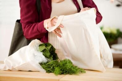 Muslin cotton grocery bag