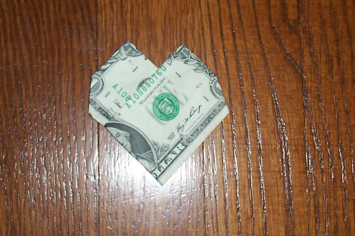 Money Origami Heart [Slideshow] - photo#25