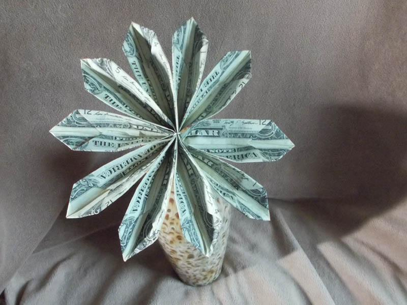 origami money flowers slideshow