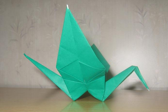 origami bird folding instructions