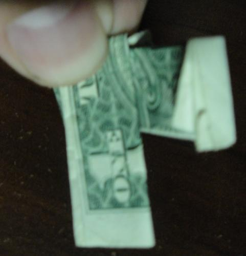 dollar bill origami ring. Make an Origami Dollar Bill