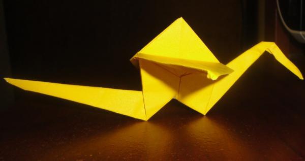 3d origami bird instructions