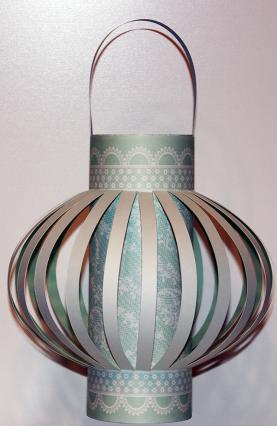 Turquoise Round Lantern