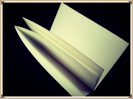 folded paper book