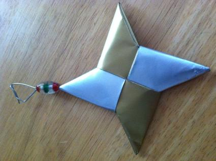hanging origami ornaments