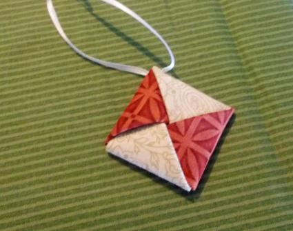 square fabric ornament