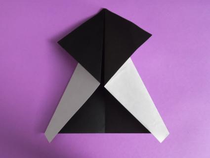 origami panda step 2