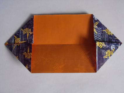 origami bow tie step 1