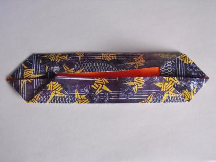 origami bow tie step 2