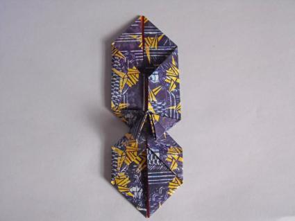 origami bow tie step 5
