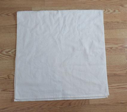 towel origami basket step 1