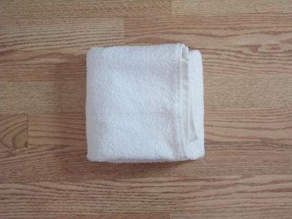 towel origami basket step 3