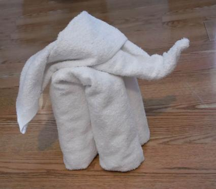towel elephant step 3