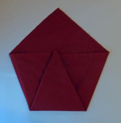 napkin peacock fold 2