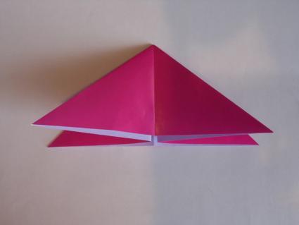 origami tulip step 1