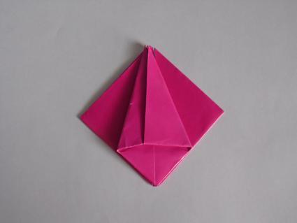 origami tulip step 3