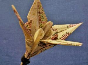 Fabric Origami Flower