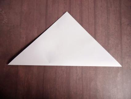 origami wolf step 1