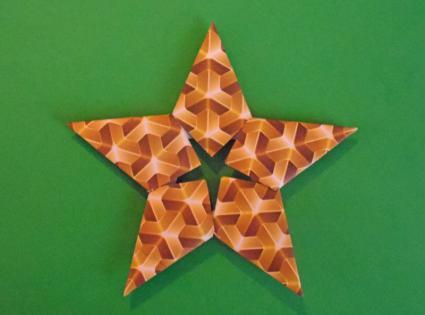 modular origami Christmas star