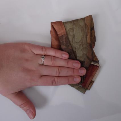 napkin origami swan 04