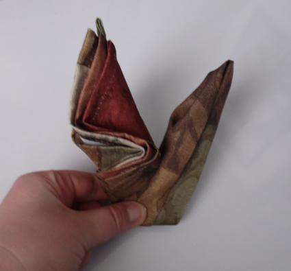 napkin origami swan 05